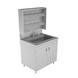 Стол-мойка НВ-800 МОП (с сушилкой и полипропиленовой раковиной)