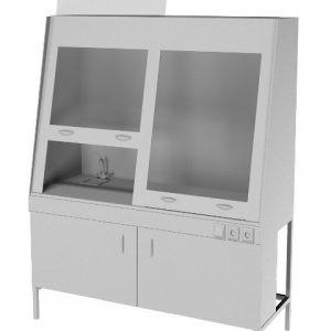 Вытяжной шкаф двухрамный НВ-1500 ШВд-У